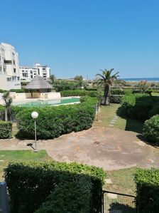 Photo for Beautiful T2 with seaview swimmingpool Cap d'Agde