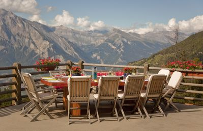 Outside dining with wonderful views
