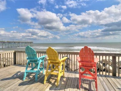 Photo for Margaritaville! - Cozy, Oceanfront Cottage, Pet-friendly!