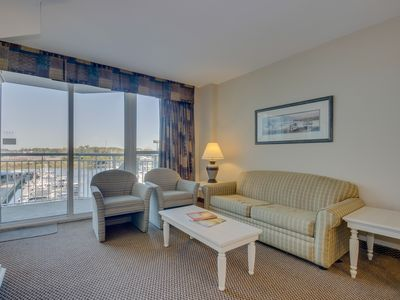 Photo for Condo overlooking marina, less than 2 miles from the beach!
