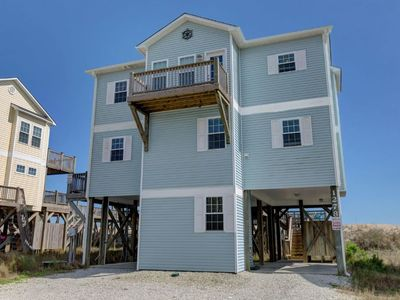 Photo for Oceanfront, new floors, beautiful decor, sunrise view from all decks