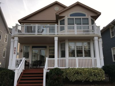 Photo for Beach block!*Two minute walk to beach and boardwalk*Sleeps 12* 888 4th*Fireplace