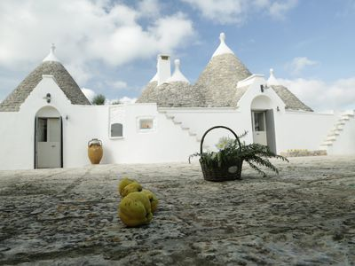 Photo for Prestigious Trulli in Valle D'Itria with salt water pool (Free Chlorine)