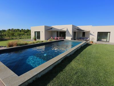 Photo for Beautiful contemporary villa with pool and garden