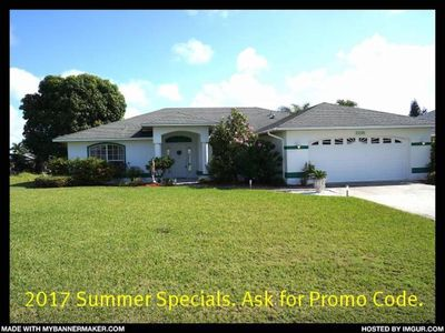 Photo for Rebecca - SE Cape Coral 3b/2ba Solar Heated Pool, Gulf Access Canal, Close to the River and Shopping
