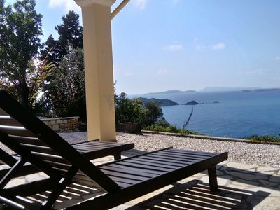 Photo for Holiday house with stunning views nearby the cozy village Afionas