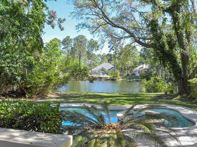 Photo for Four Bedroom Home with Private Pool and Spa on Tranquil Lagoon in Palmetto Dunes
