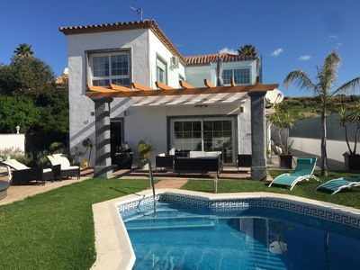 Photo for Modern Nordic inspired 4 bedroom villa with pool and fantastic views in Estepona
