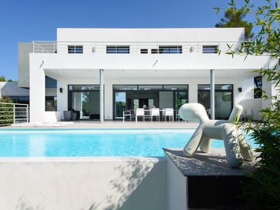 Photo for LUXURY HOLIDAY VILLA WITH INFINITY POOL AND AIRCONDITIONING