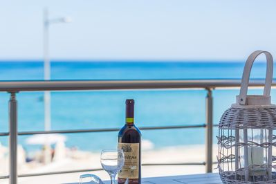 After a long day in the sun enjoy the rest of the day at the balcony!