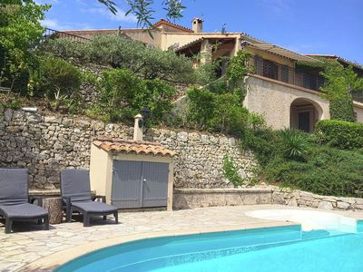 Photo for Fantastic Provencal villa with private pool, 2 km from the picturesque Flayosc
