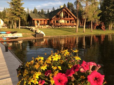 Photo for 30 minutes to Schweitzer, Waterfront, Luxury Log Home