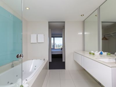 Photo for Ocean View One Bedroom Luxury Apartment with Spa Bath in the Iconic Q1
