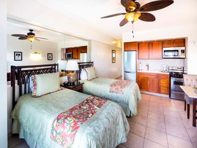 Photo for Island Living w/Sunset View, Free WiFi, Kitchenette Ease–Waikiki Shore #915