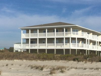 Photo for BEAUTIFUL 4Br/3Bath OCEANFRONT Condo with 2 balconies in Southern Shore Villas