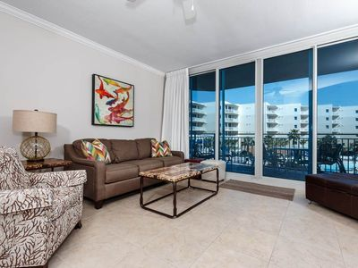 Photo for REMODELED! ~ Waterscape B316 ~ CLOSEST 1 BDRM TO BEACH ~ Balcony Overlooks Pool