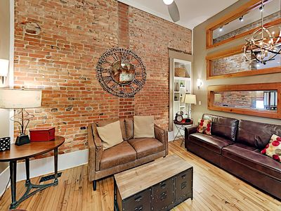 Photo for Historic Loft Apartment w/ Patio - 2 Blocks to Pack Square!