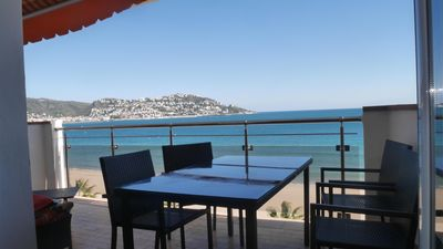 Photo for MODERN APARTMENT - SEA FRONT ON THE BAY OF ROSAS