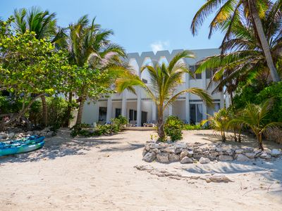 Photo for Magnificent Beachfront villa designed by renowned architect in South Akumal.