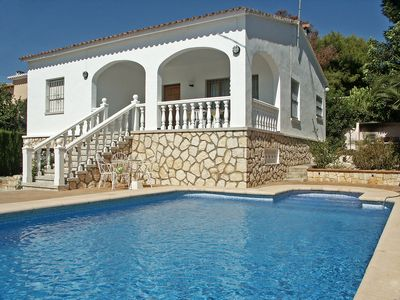 Photo for This 3-bedroom villa for up to 6 guests is located in Moraira and has a private swimming pool.......