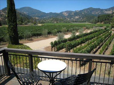 View of Vineyards and Mt. Saint Helena From Balcony