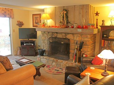 Photo for Woodland condo close to ski lodge w/private balcony & wood-burning fireplace