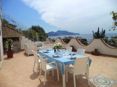 Photo for Homerez last minute deal - Amazing house with sea view and Wifi
