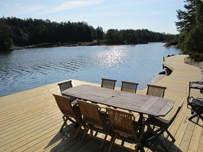 Photo for Seaside Villa With Private Jetty In Stockholm Archipelago