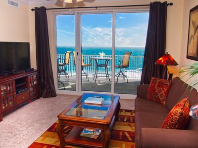 Photo for Ocean Reef Beach-Front, Luxury, Condo with Awesome Balcony, Highly Rated!