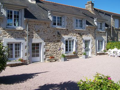Photo for Spacious farmhouse with sea view in St-Cast-le-Guildo, near St Malo and Dinard