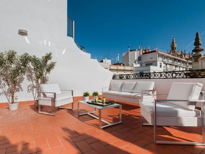 Photo for Wonderful 3 Bd apatm in front of the Cathedral with Terrace. Cabildo I