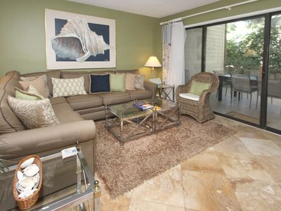 Photo for Dog-friendly condo with shared pool, tennis, beach across the street!