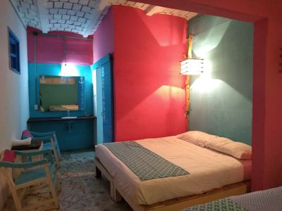 Photo for 1 Room Affordable  for 2, Private Bathroom , 250 steps to the Beach  double bed