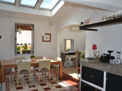 Photo for Air-conditioned house, escutcheon, 4 bedrooms, parking,