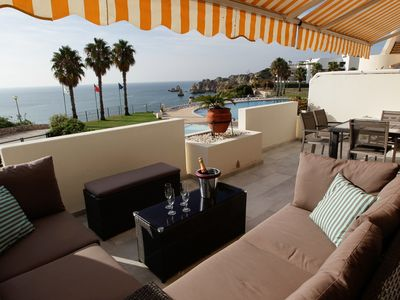 Photo for Spacious apartment with fantastic 180 ° sea views