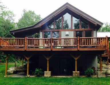 Photo for Adirondack Chalet 2 miles from Hague Beach & Boat Launch on Lake George