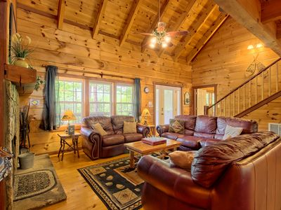 Photo for Dog-friendly mountain home for the next family getaway w/ hot tub & more!