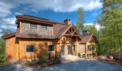 Start Planning Your Next Getaway! Gorgeous Exterior Made from Reclaimed Oak Barn Wood and White Pine and Cedar Timbers.