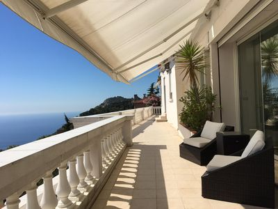 Photo for Entire villa with panoramic views of Monaco and its surroundings, gardens, pool