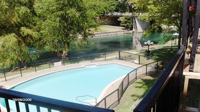 Photo for 2 bedroom Condo @ Inverness, on the Comal River across from Schlitterbahn