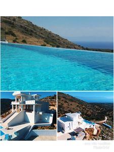 Photo for Eco villa in the mountains with private pool and  amazing view over the see