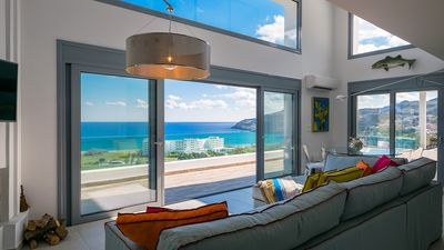 Photo for Exceptional 4 Bed  5 bath  Sea view villa, minutes from Lindos.