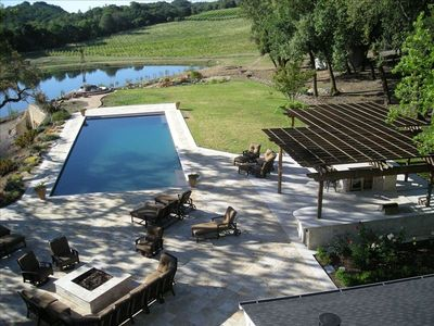 Photo for 33 Acre Sonoma Estate W/Lake,Beach,Tennis,Pool,100' Water Slide