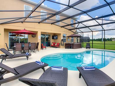 Photo for Executive Pool Home with Jacuzzi sleeps 12. Excellent location for Disney. Golf.