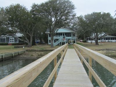 """Photo for """"Tranquility"""" Old Creek Front Home. NEW DOCK on DEEP WATER."""