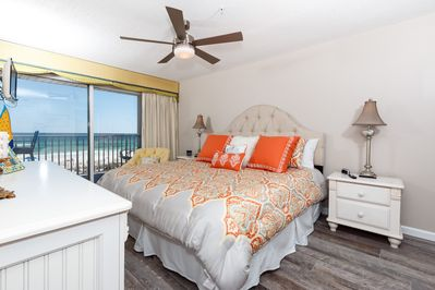 All new furniture, lighting, condo painted - And the same GORGEOUS Gulf view in your master bedroom
