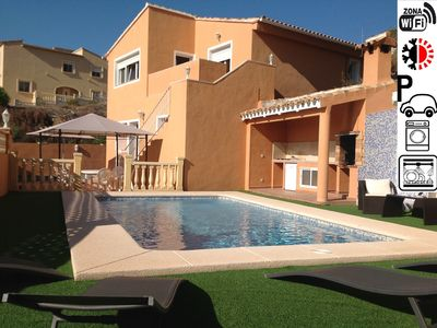 Photo for VILLA TERRACOTA CALPE. *** WITH PRIVATE POOL AND MAGNIFICENT SEA VIEW AND WIFI