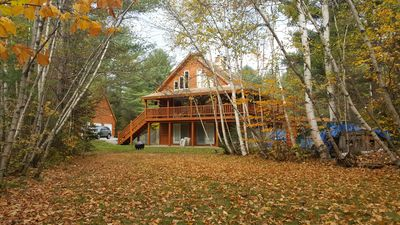 Photo for Modern Log Home - Heart of the White Mountains, minutes to White Mt Nat. Park