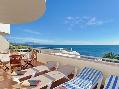 Photo for Beach front, very spacious apartment set in beautiful gardens