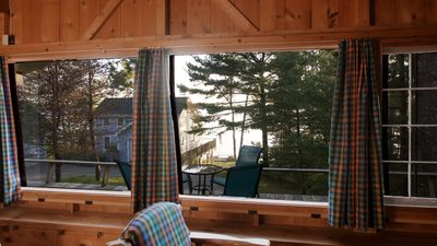 The view of Frenchman Bay from the cabin.